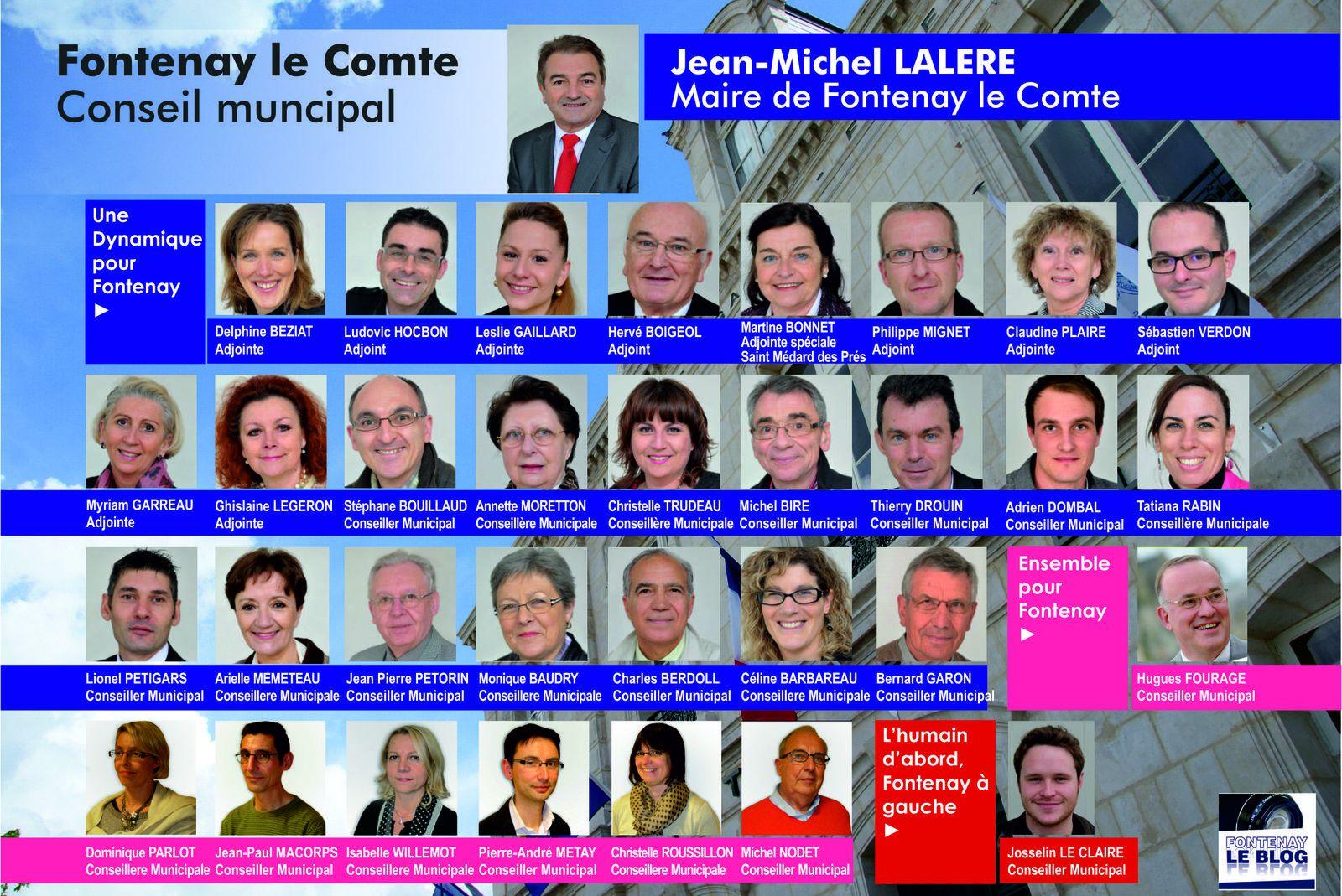 Fontenay le Comte : le nouveau conseil municipal installé