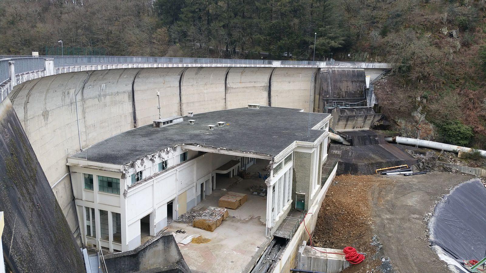 Barrage de Mervent : les travaux avancent