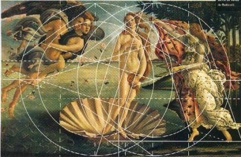 La Naissance de Botticelli - nombre d'or.