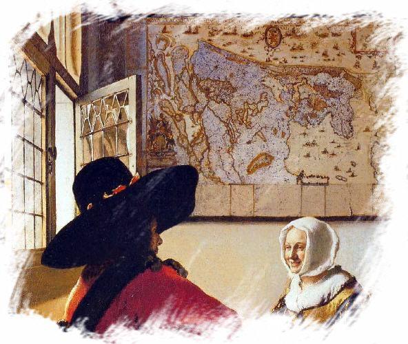 Vermeer - soldat et jeune fille riant -1658