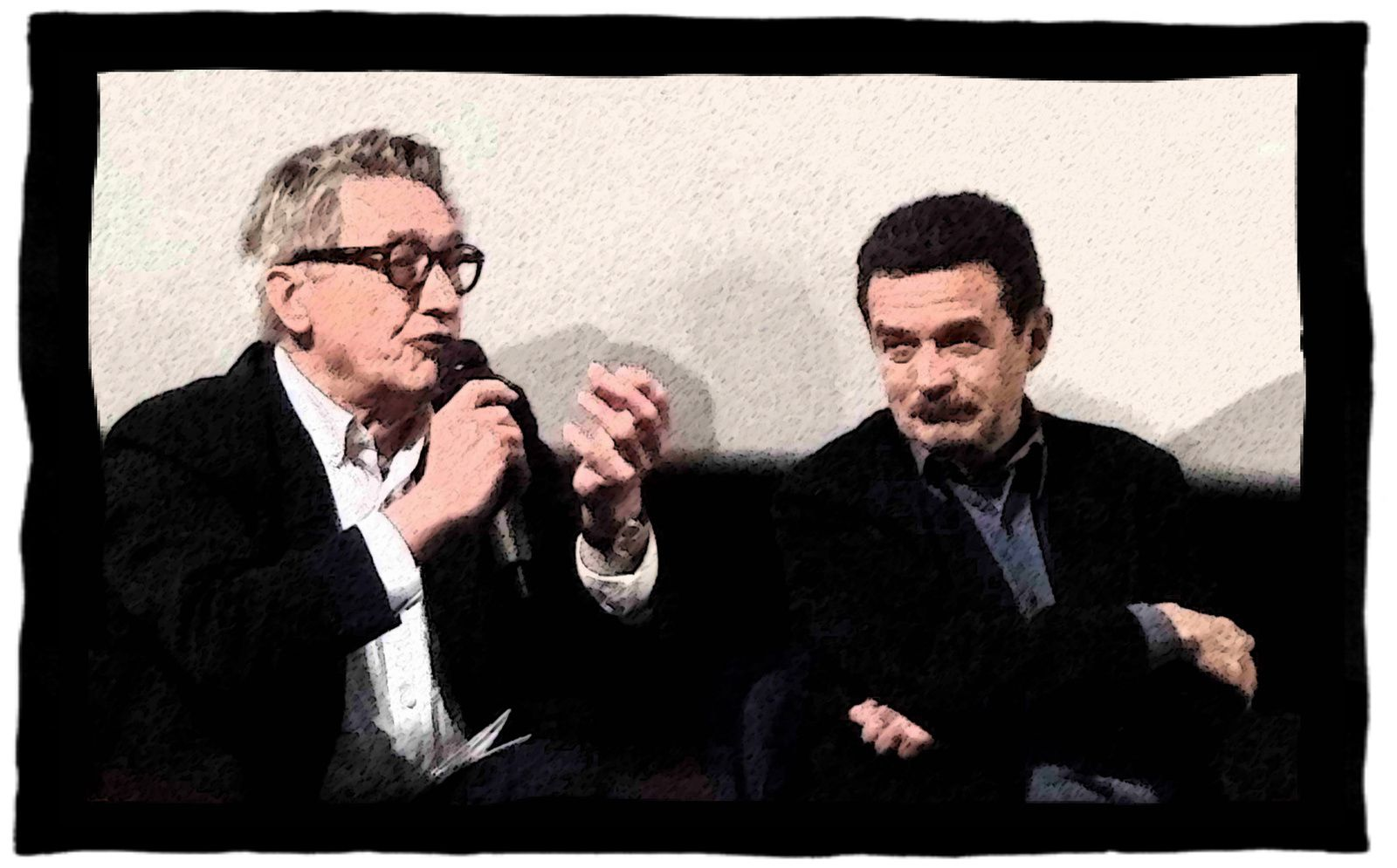 Edwy Plenel, Maurice Ulrich, 1er mai 2015. Photo : Virginie, le Chêne parlant & Cie.