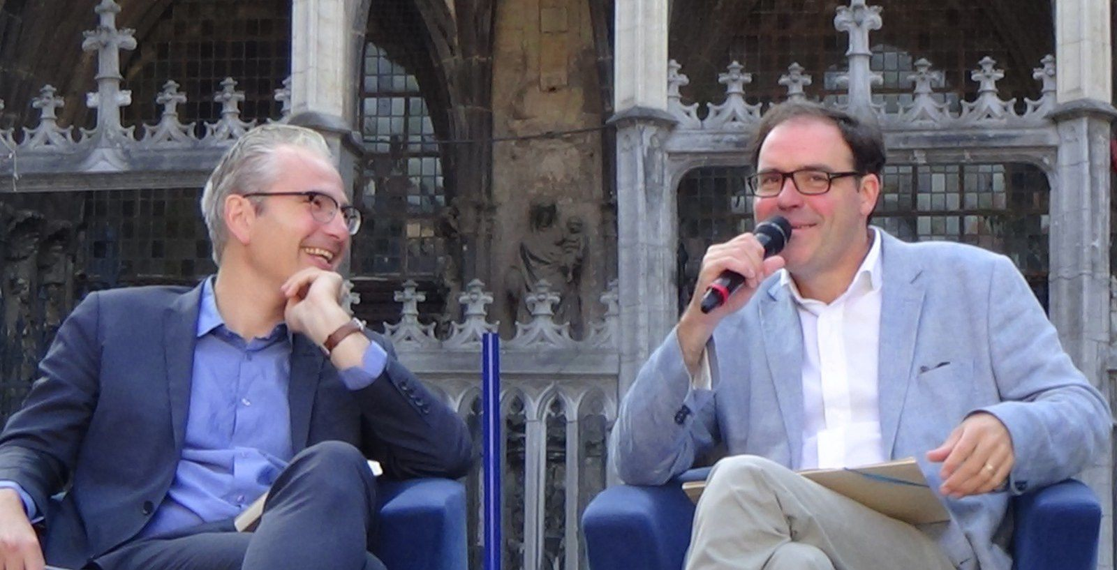 Pascal Chabot - Martin Legros-L'intelligence du changement- Tournai - Photo Virginie Le chêne parlant-