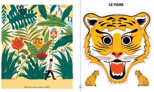 Le masque du tigre ! Et à gauche, un aperçu du chasseur...