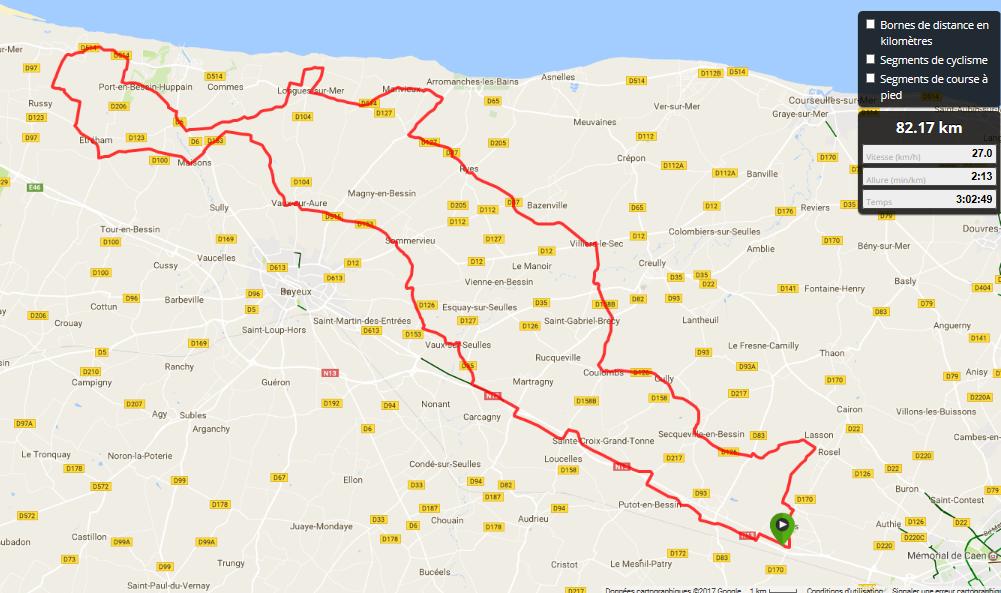les photos de CABECOU avec les kms parcourus depuis Louvigny !!!