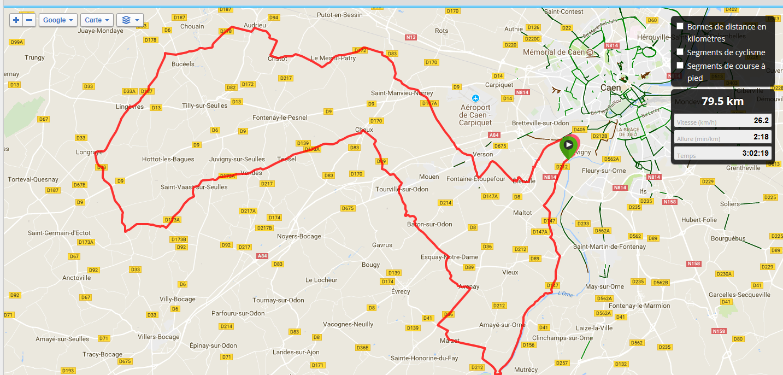 et plus de 26 kms de moyenne !!!