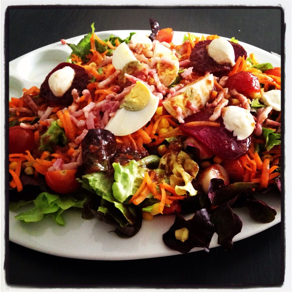 ma salade printani re aux lardons de poulet en plat principal le blog de. Black Bedroom Furniture Sets. Home Design Ideas