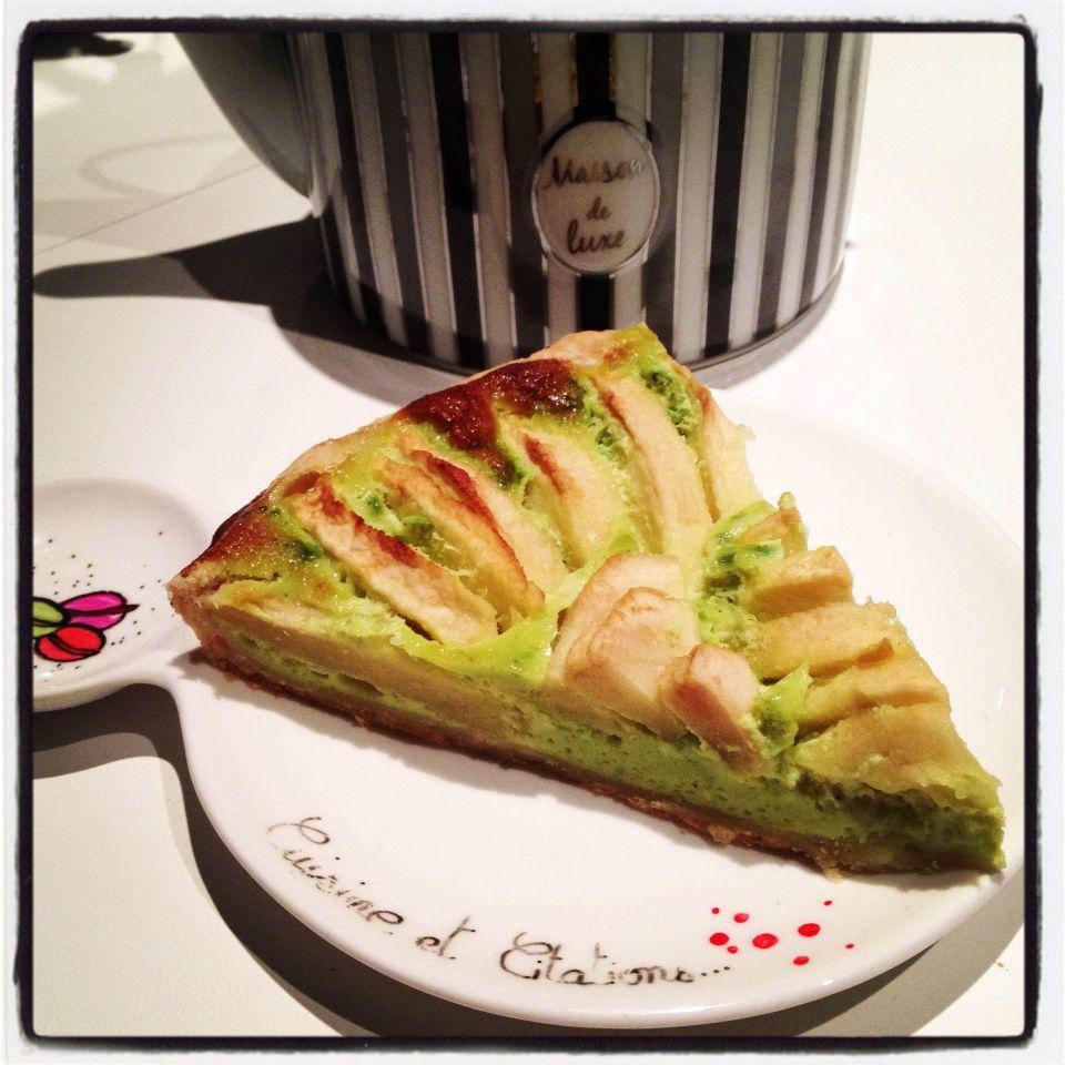 Ma tarte aux pommes au lait concentré pistaché.. Une petite merveille !