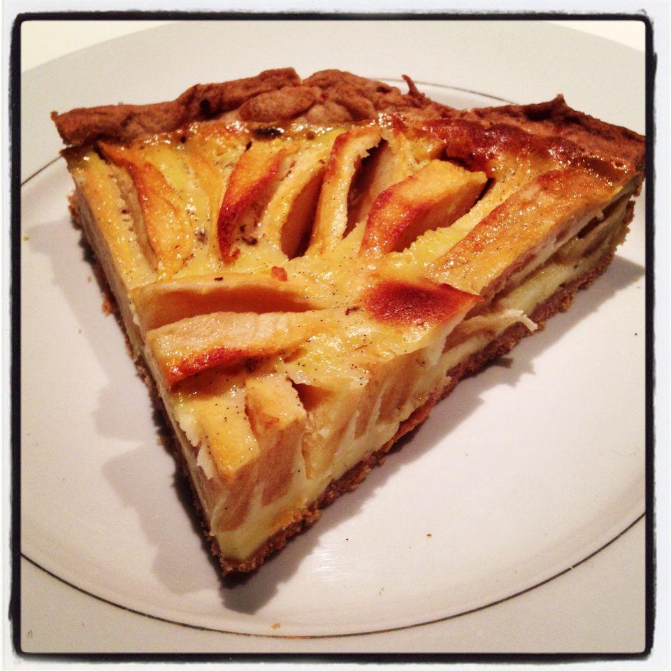Ma tarte aux pommes gourmande à la crème de fromage frais... Un vrai délice !