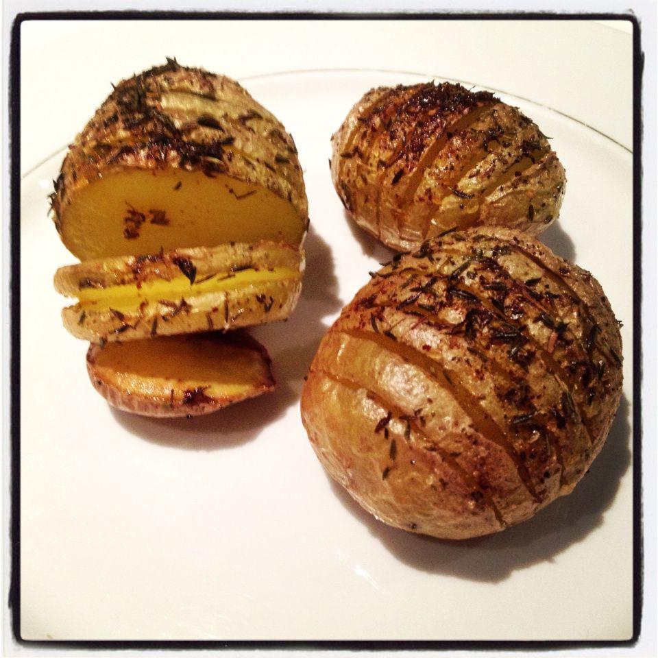 les pommes de terre ventail un accompagnement id al pour les f tes le blog de. Black Bedroom Furniture Sets. Home Design Ideas