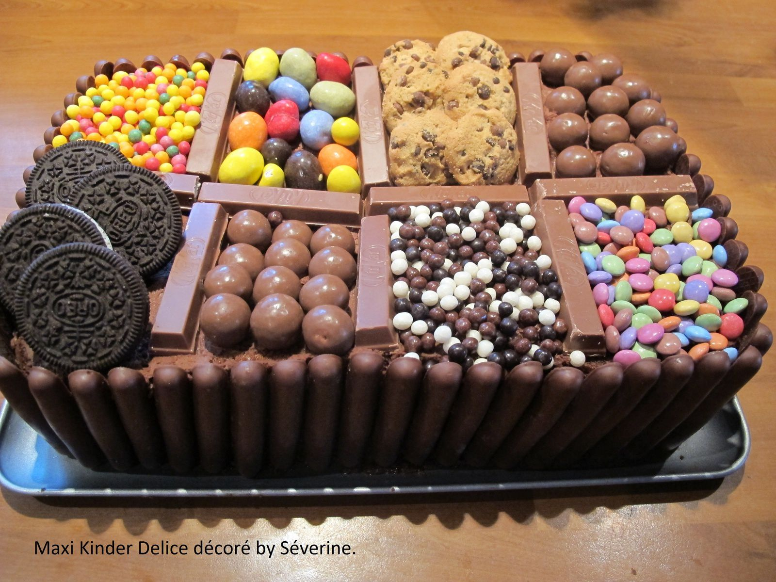 decoration gateau kinder