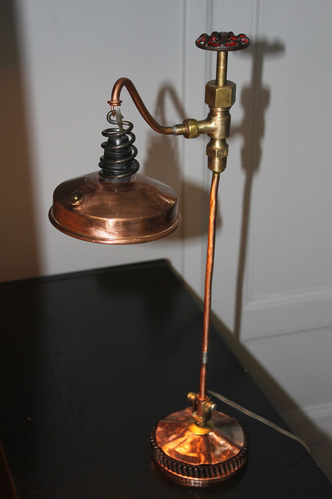 cr ation unique steampunk lampe r cup ancien instrument de mesure ebullioscope. Black Bedroom Furniture Sets. Home Design Ideas