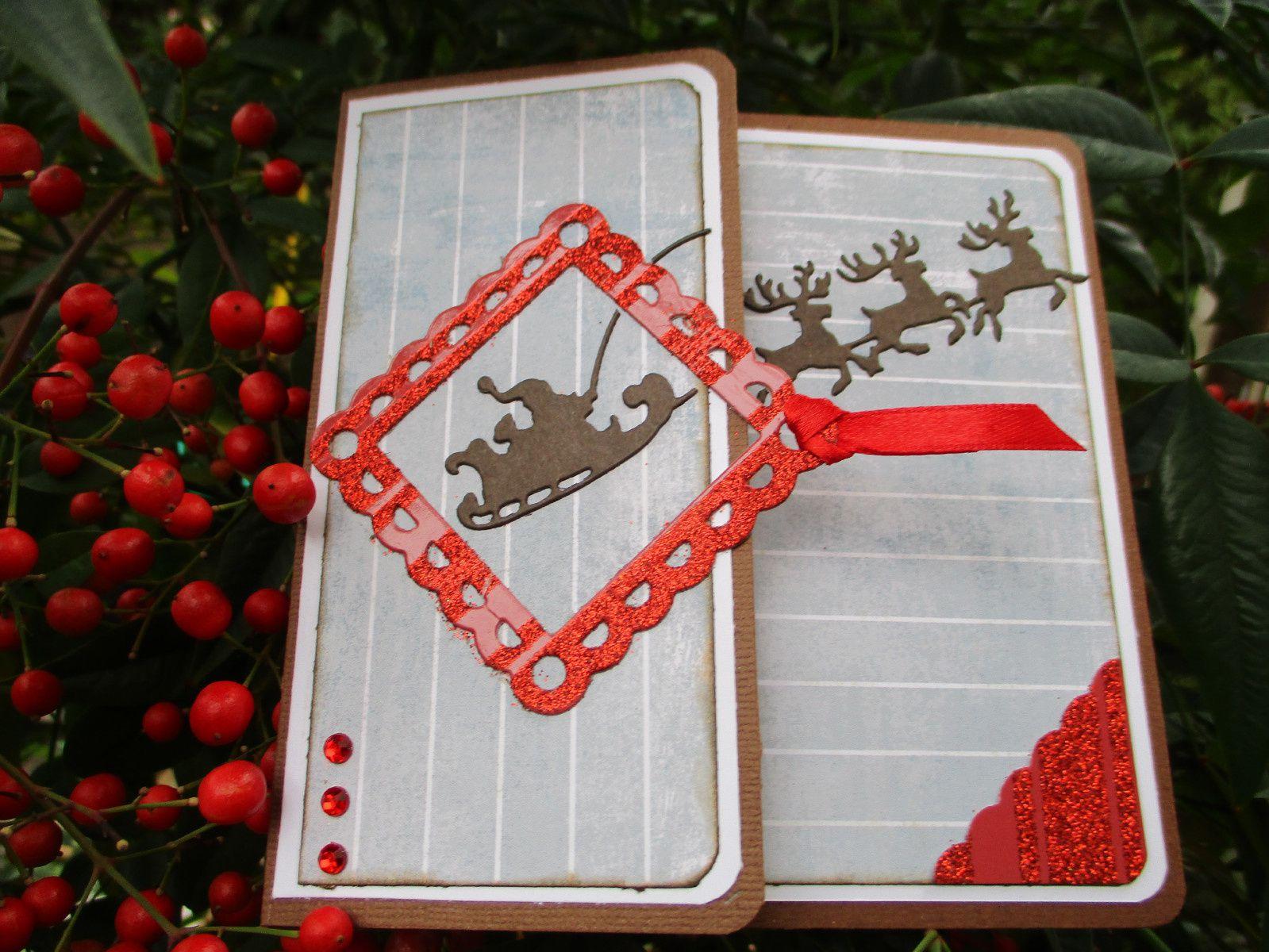 Cartes et bottes de Noël fait maison