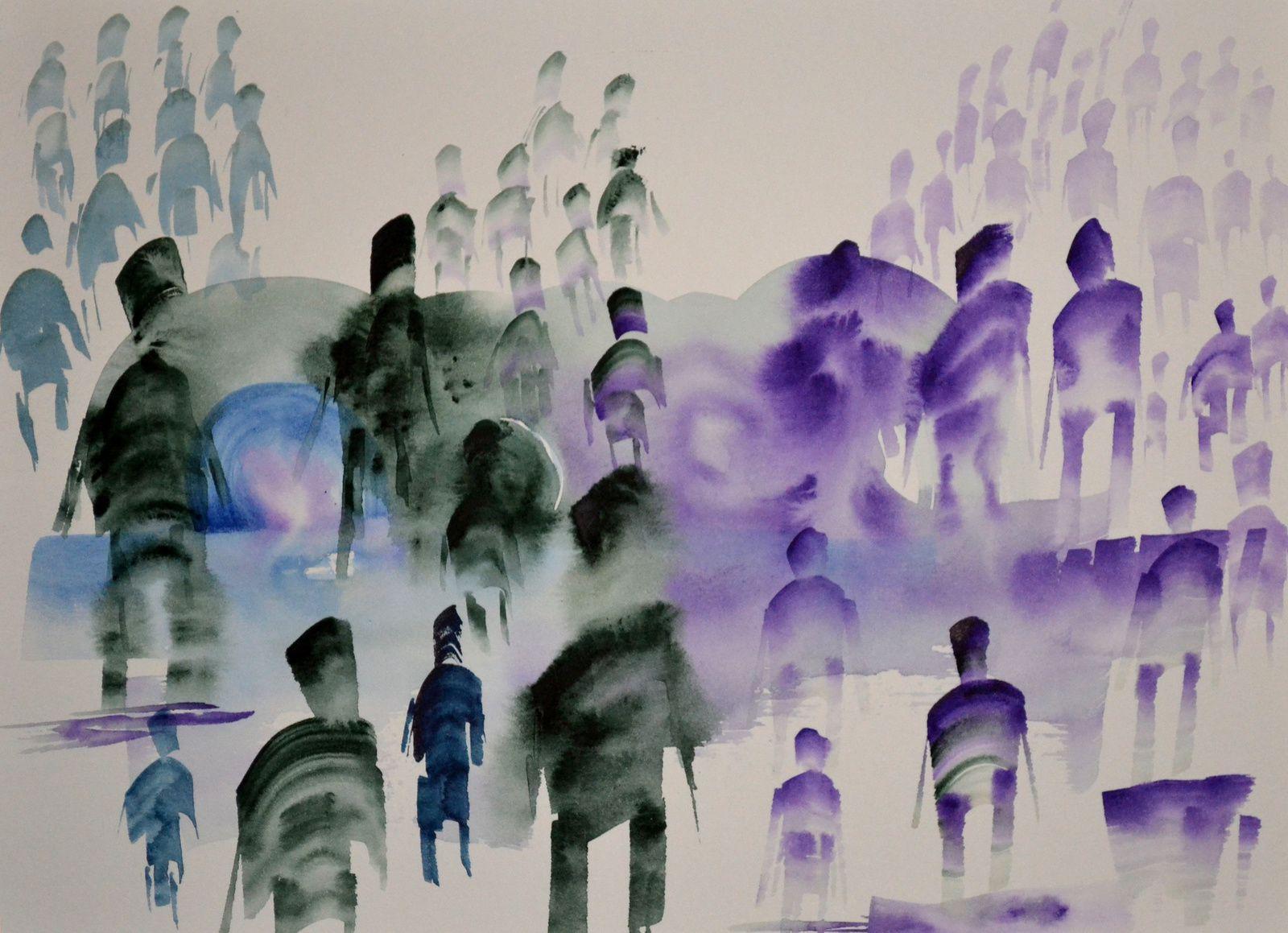 quelques unes de mes dernières peintures...