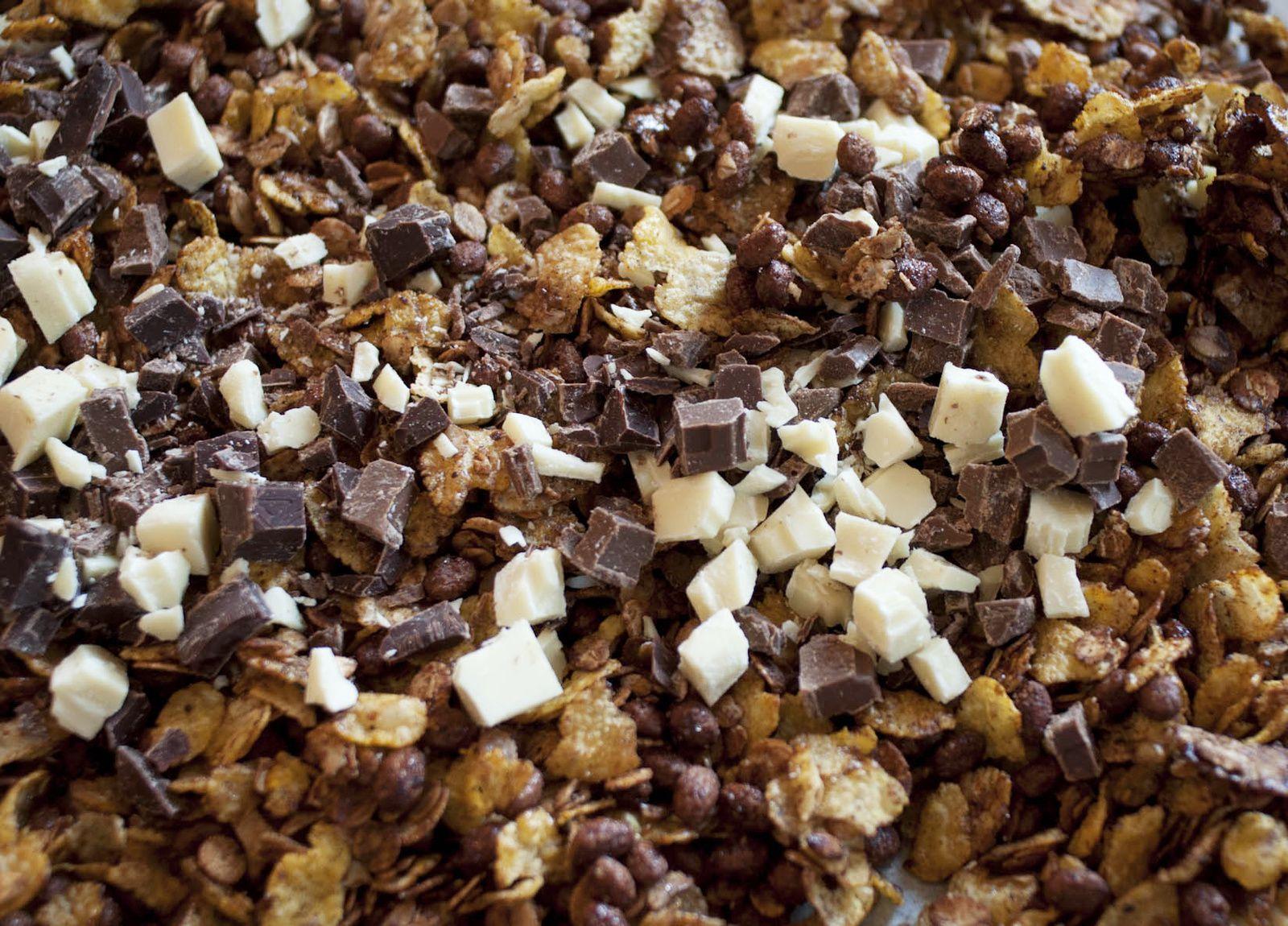 Granola trois chocolats