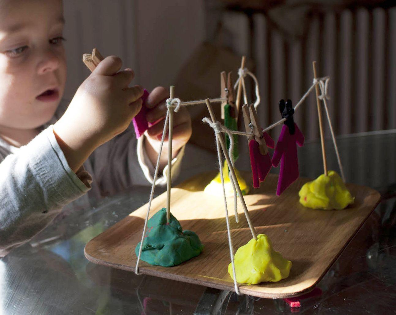 Etendoir à linge - activité enfant 2 ans-8 ans