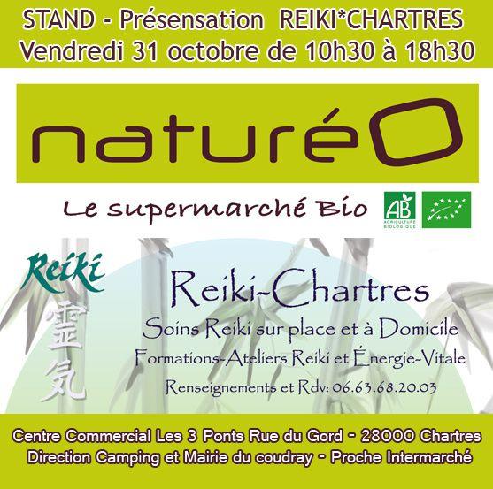 REIKI-CHARTRES à NATURÉO CHARTRES  le vendredi 31 octobre 2014 de 10h30 à 18h30