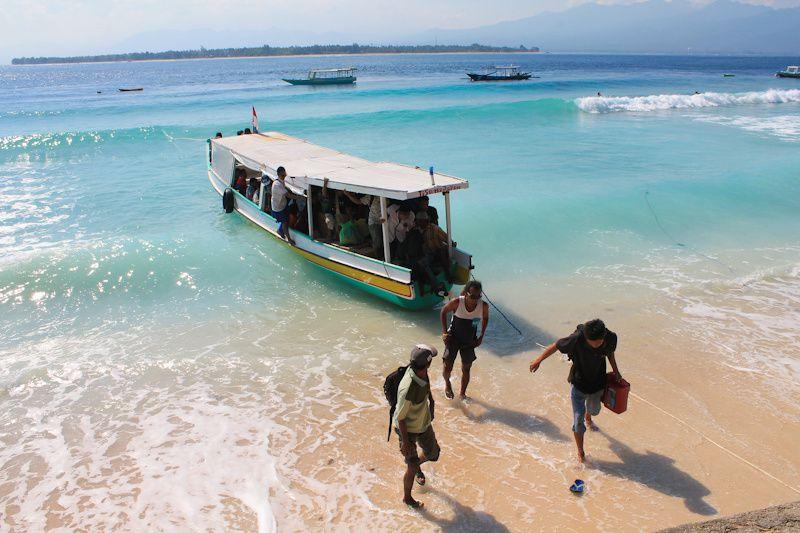 Les îles Gili ne sont qu'à 20-30 minutes de bateau de Lombok. Cependant, dépaysement garanti!