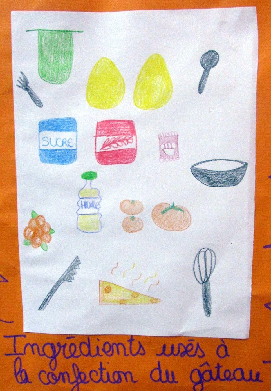 ~ Atelier cuisine n°1 ~ Liste des ingrédients ~ Toasts de pain d'épices agrémenté ~