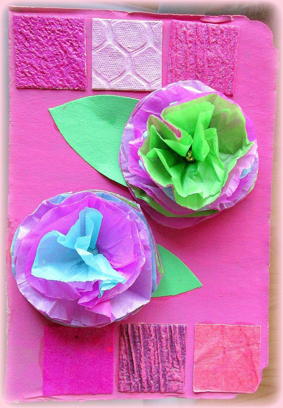 ~ Cadre(s) relief(s) fleuri(s) ~ Mosaïque cartonnée ~ Papier de soie ~