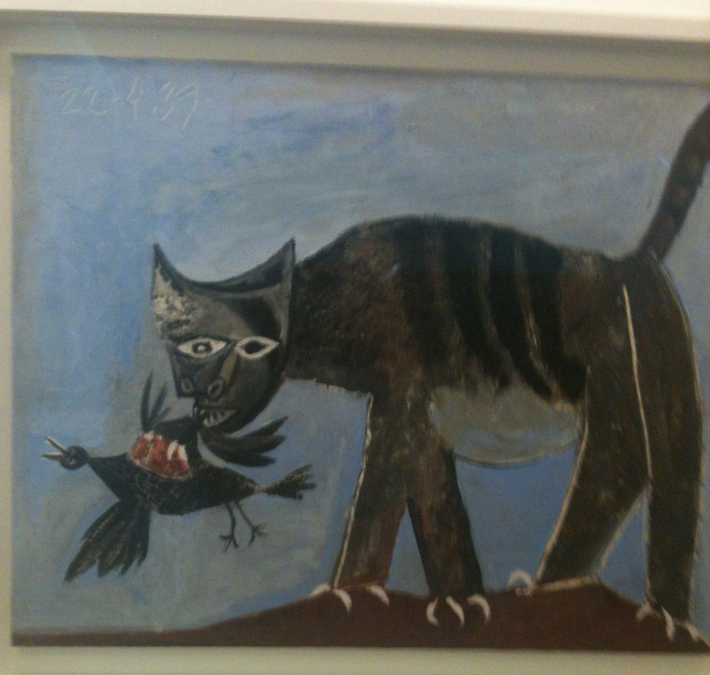 Chat saisissant un oiseau 1939