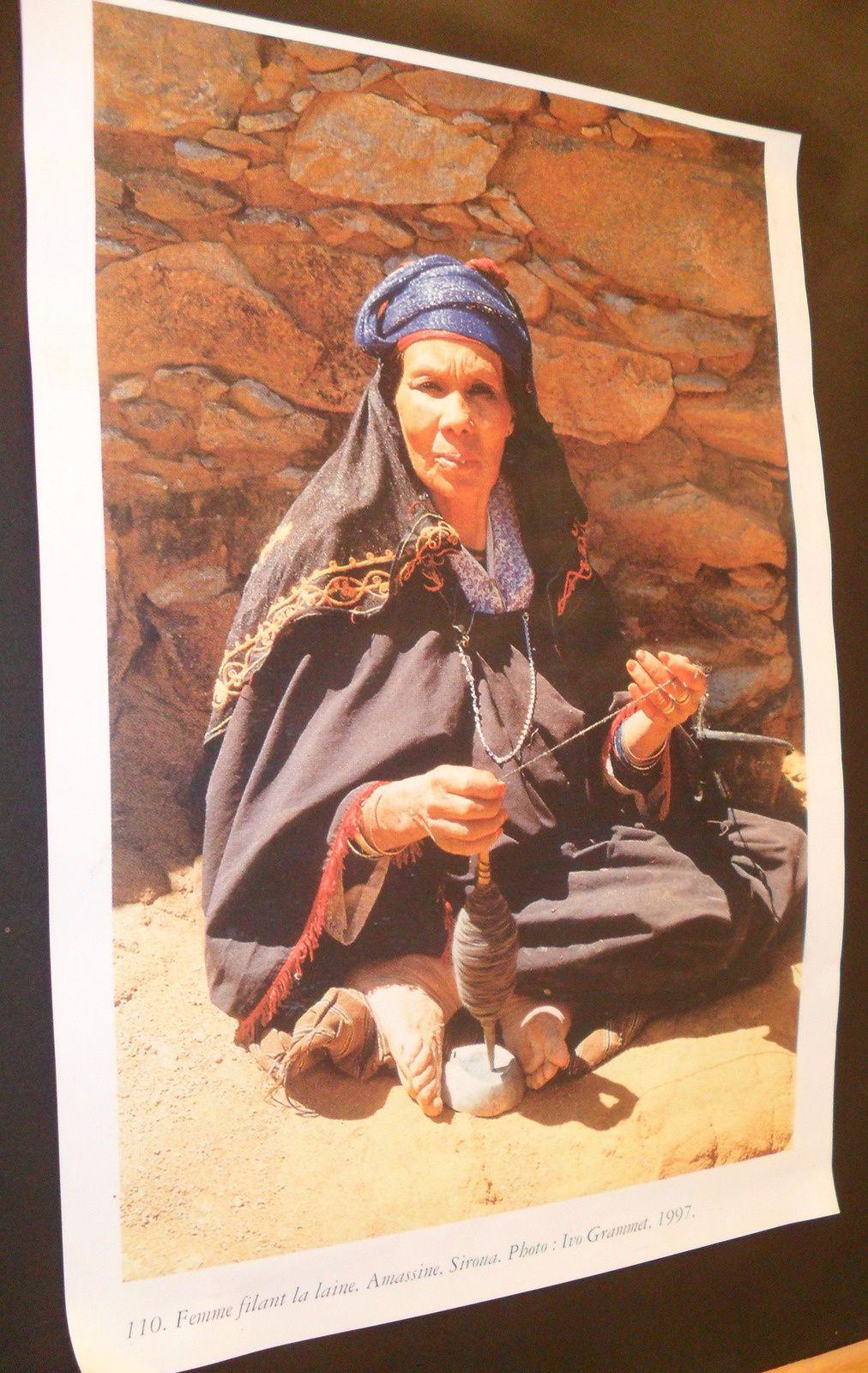 Portrait d'une femme filant la laine musée de Marrakech (photos décembre 2013).