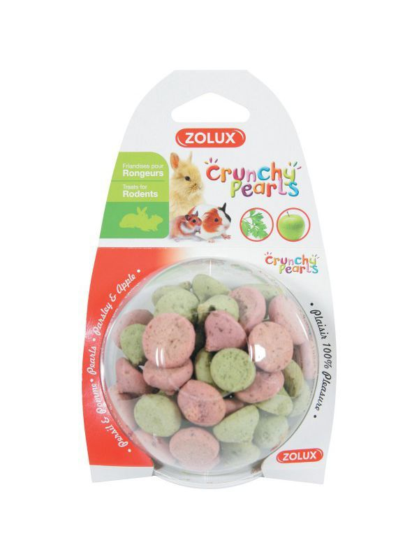 Friandises Crunchy Pearls pour cochon d'inde, lapin, chinchilla