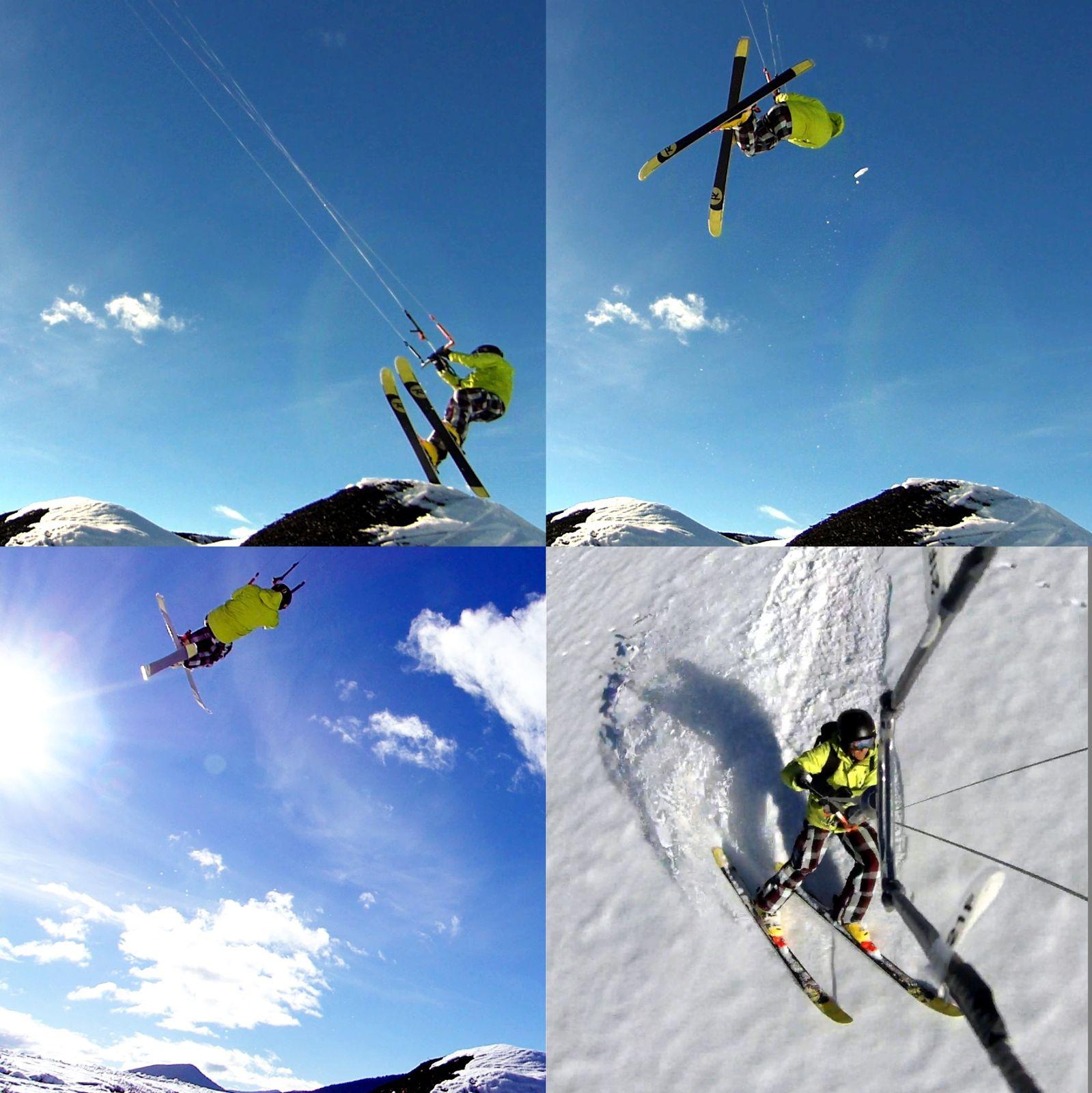 snowkite à Lans en vercors