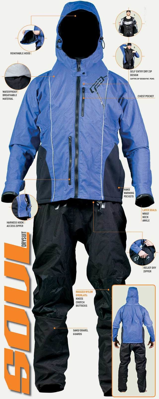 Combinaisons Sèches, DRYSUITS au shop Kites And Boards