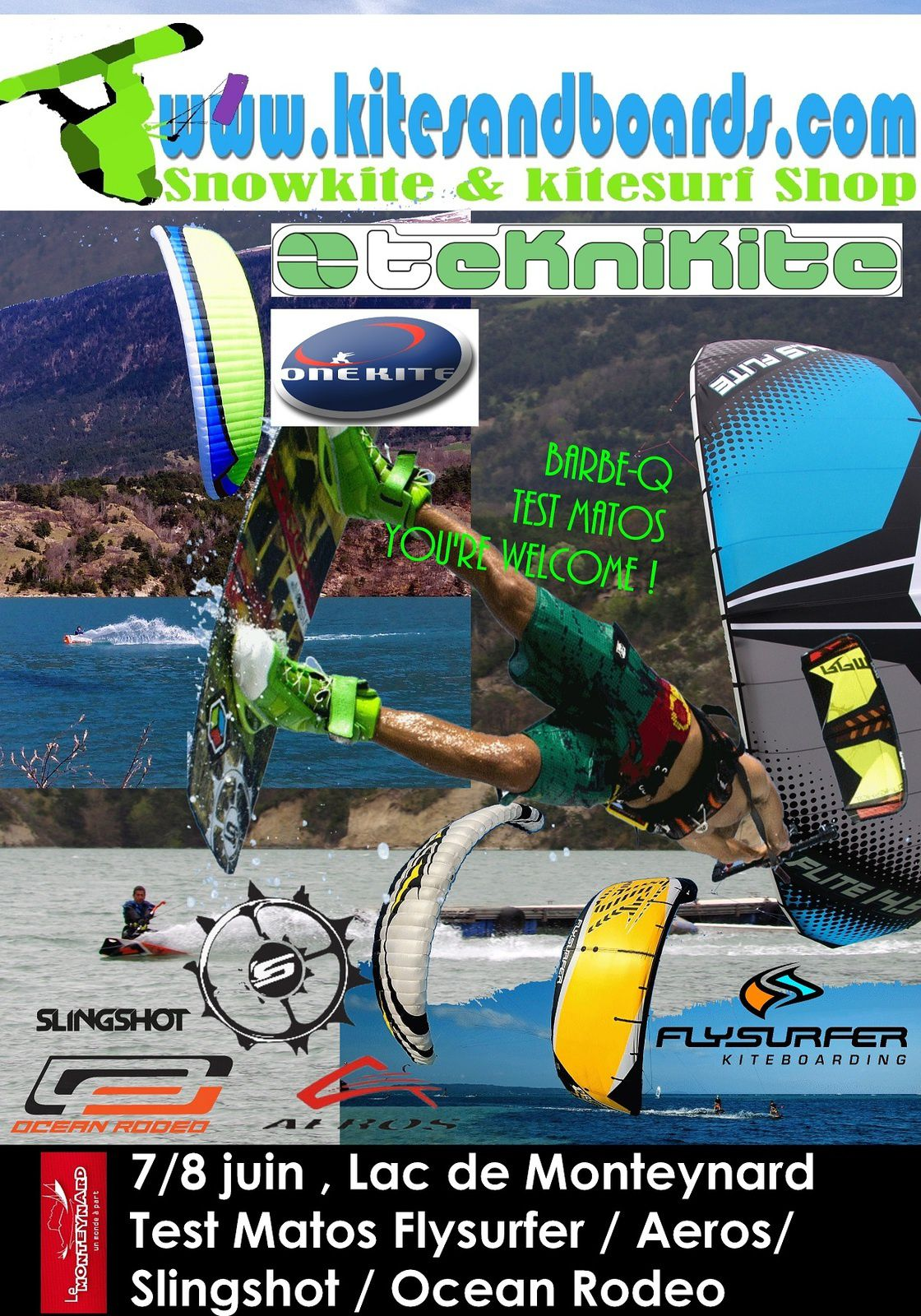 7 et 8 juin, Test matos, barkek, downwind...au lac de Monteynard