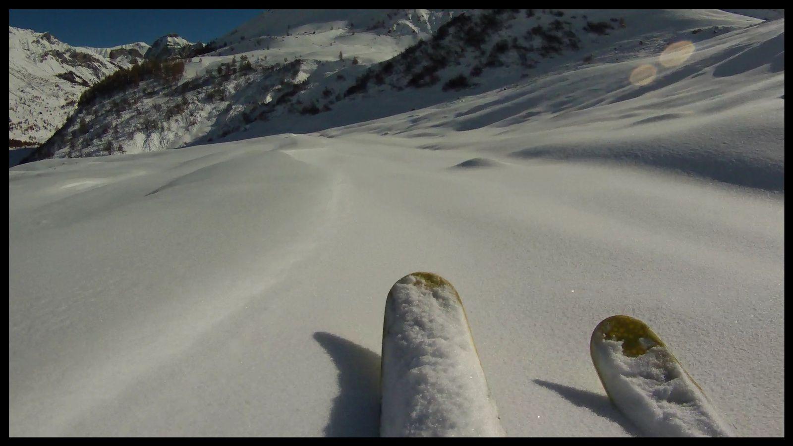 snowkite, 8 novembre au lautaret + les premiers 3 Evéchés de la saison