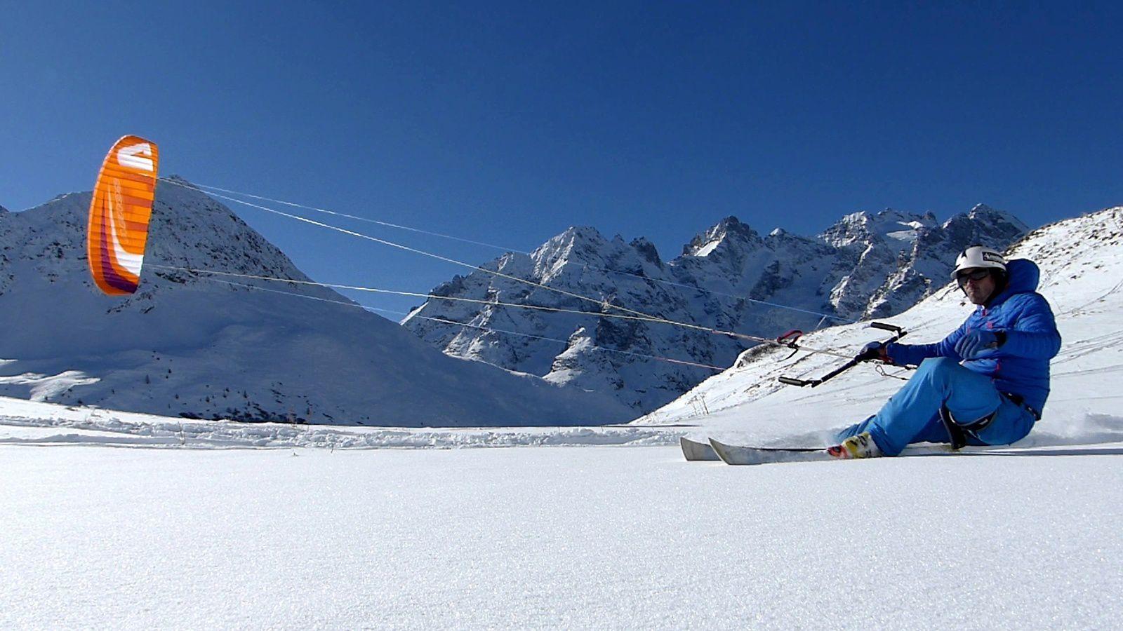 snowkite, Aeros Alti 2015 orange 10m