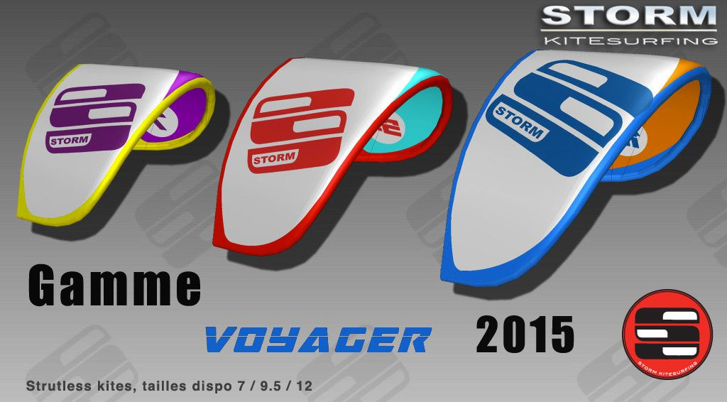 STORM Kiteboarding Voyager dispo au Shop Kites And Boards