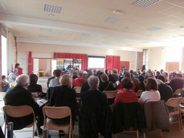 """Après le rapport moral (approuvé lui aussi comme les 2 précédents)...Franck Delisle présente le programme """"LIFE Pêche à Pied""""..."""