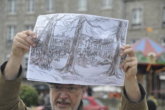 Même Yvonne HAFFEN (qui travaillait avec Mathurin MéHEUT et habitait Dinan) est intervenu pour les défendre... voyez ce dessin.