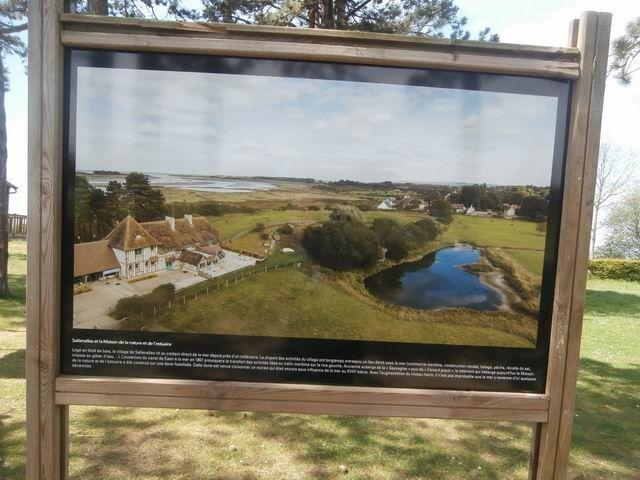 Ce panneau-ci par exemple montre bien la partie de l'estuaire que nous nous apprêtons à visiter.