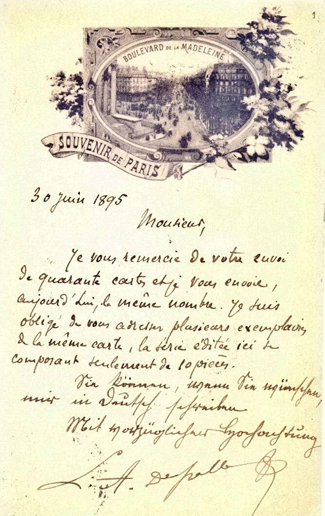 Des échanges cartophiles en 1894