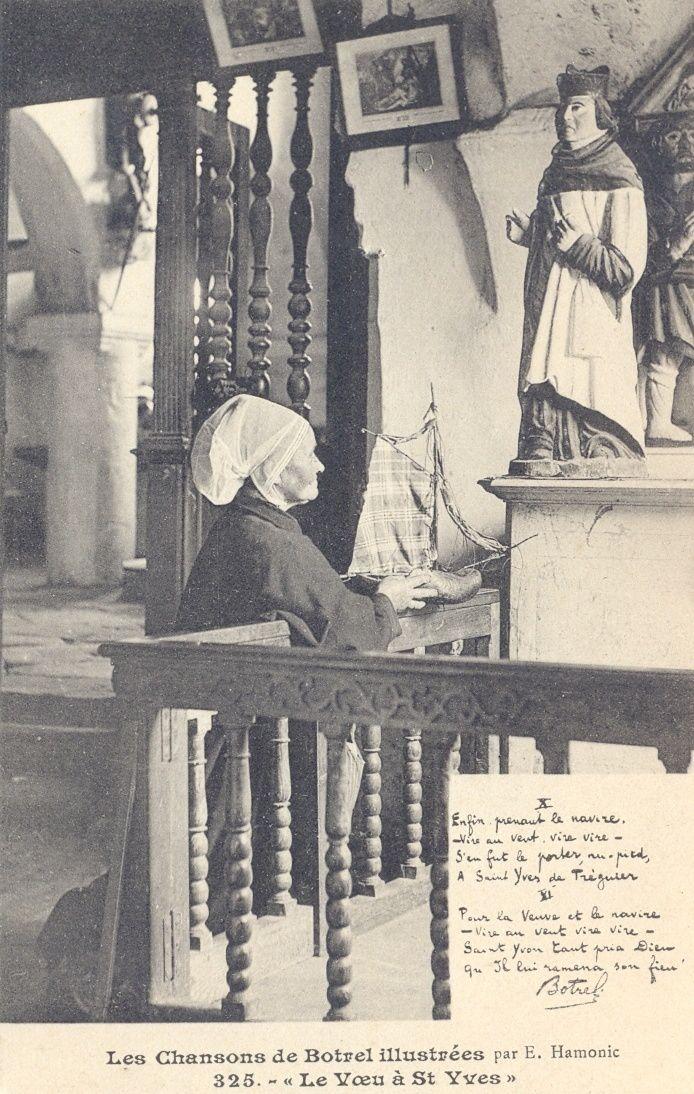 Le voeu à Saint Yves (cinq cartes)