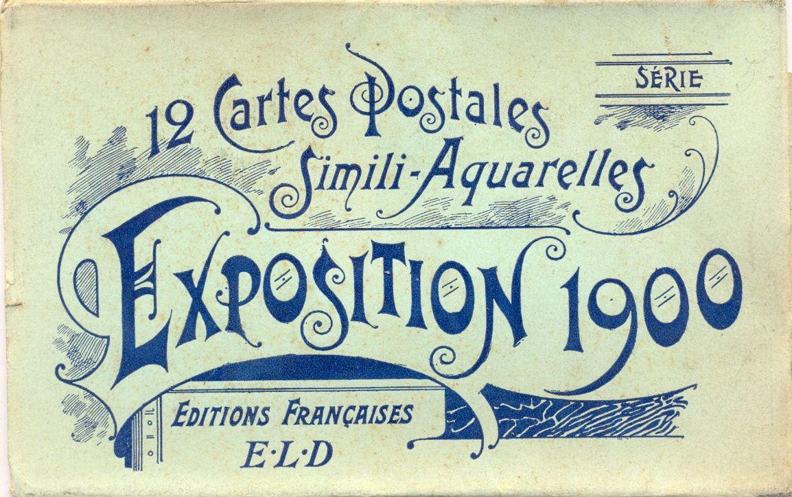 Exposition 1900 : une pochette ELD