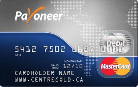 Explain the registration request and get a card Payoneer MasterCard . and explain activated after receipt