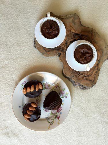 Muffins au chocolat et huile de noix de pécan