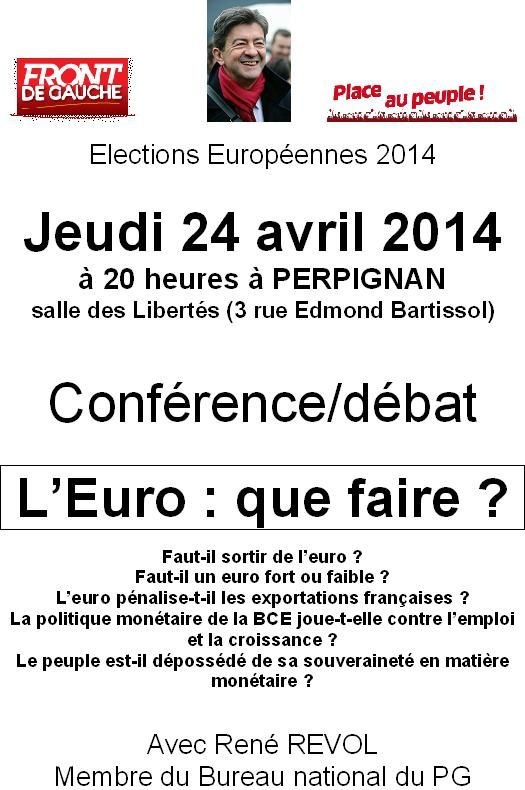 Le Front de gauche 66 met l'euro en question