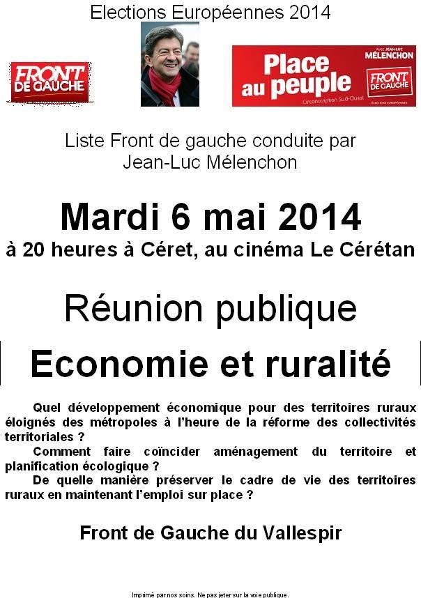 Front de Gauche: Economie-Ruralité en débat