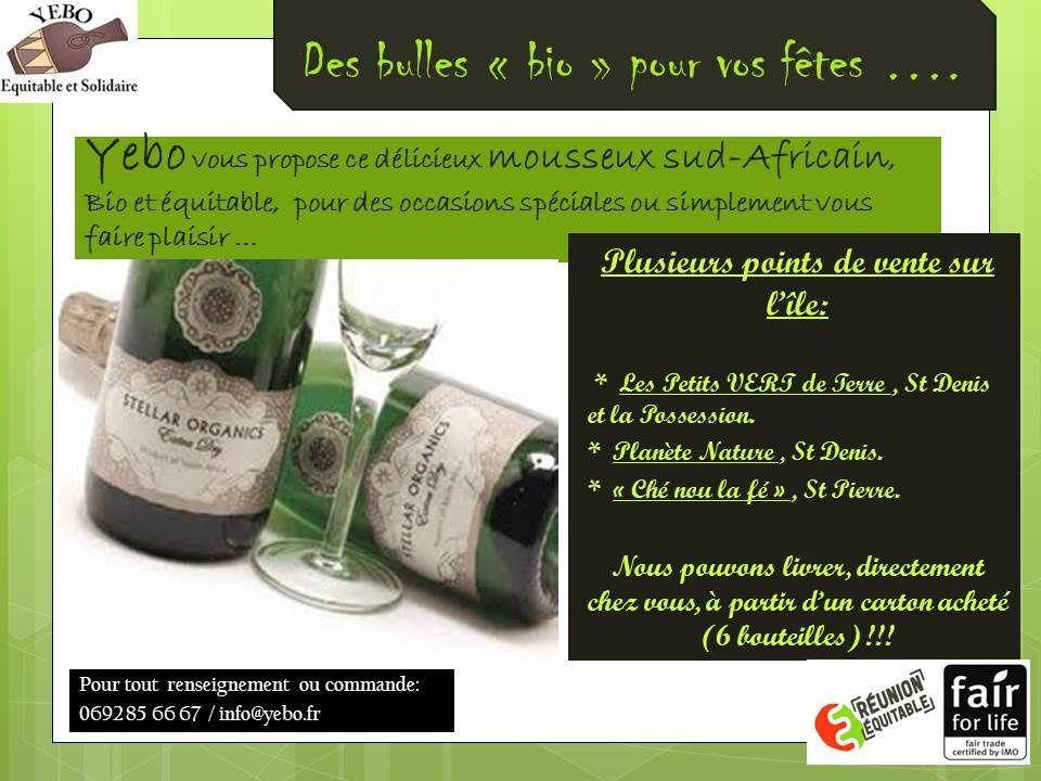 Des Bulles BIO et EQUITABLE pour vos fêtes .....