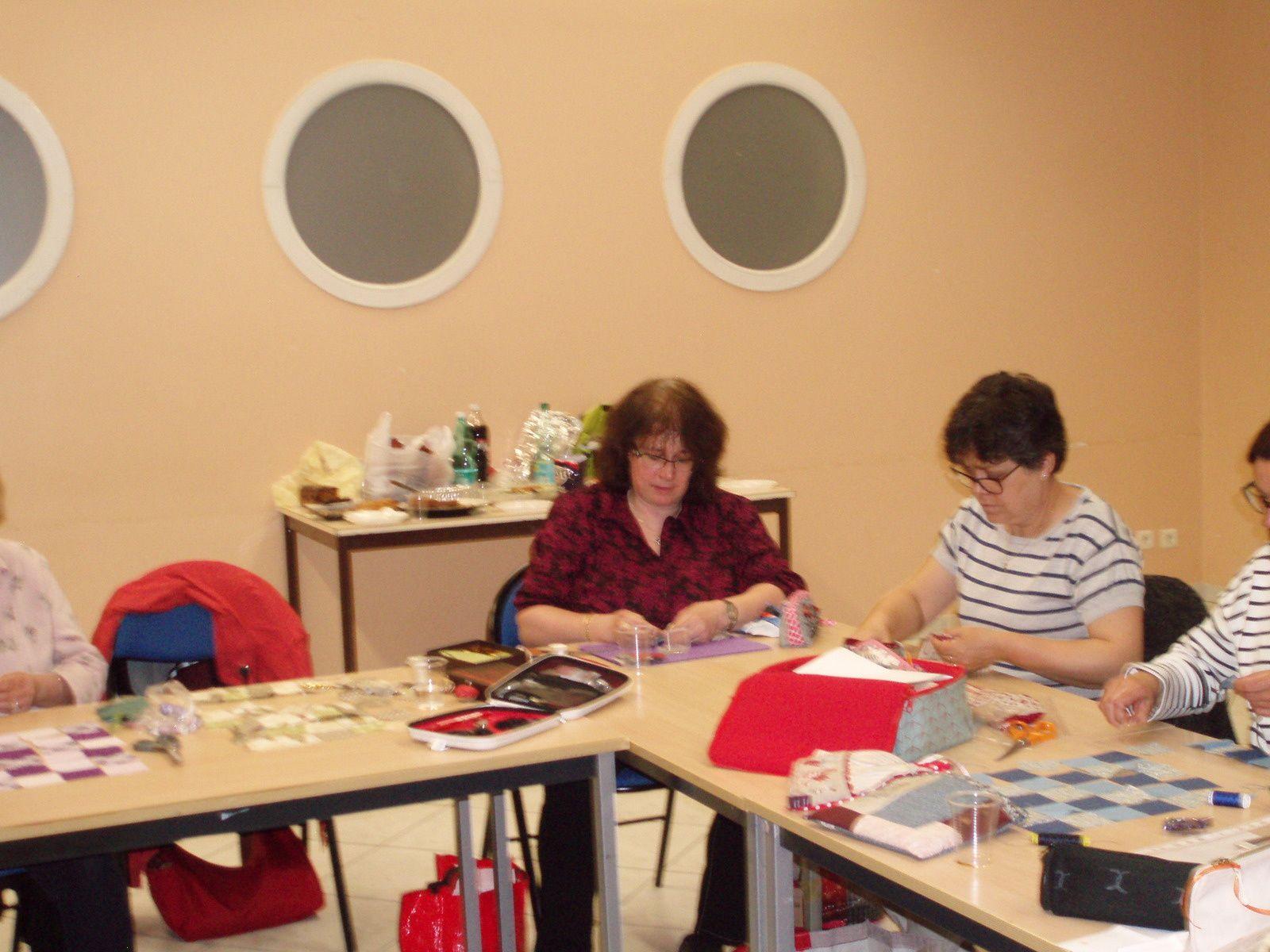 Atelier patchwork &quot&#x3B;pochette fleurie&quot&#x3B;