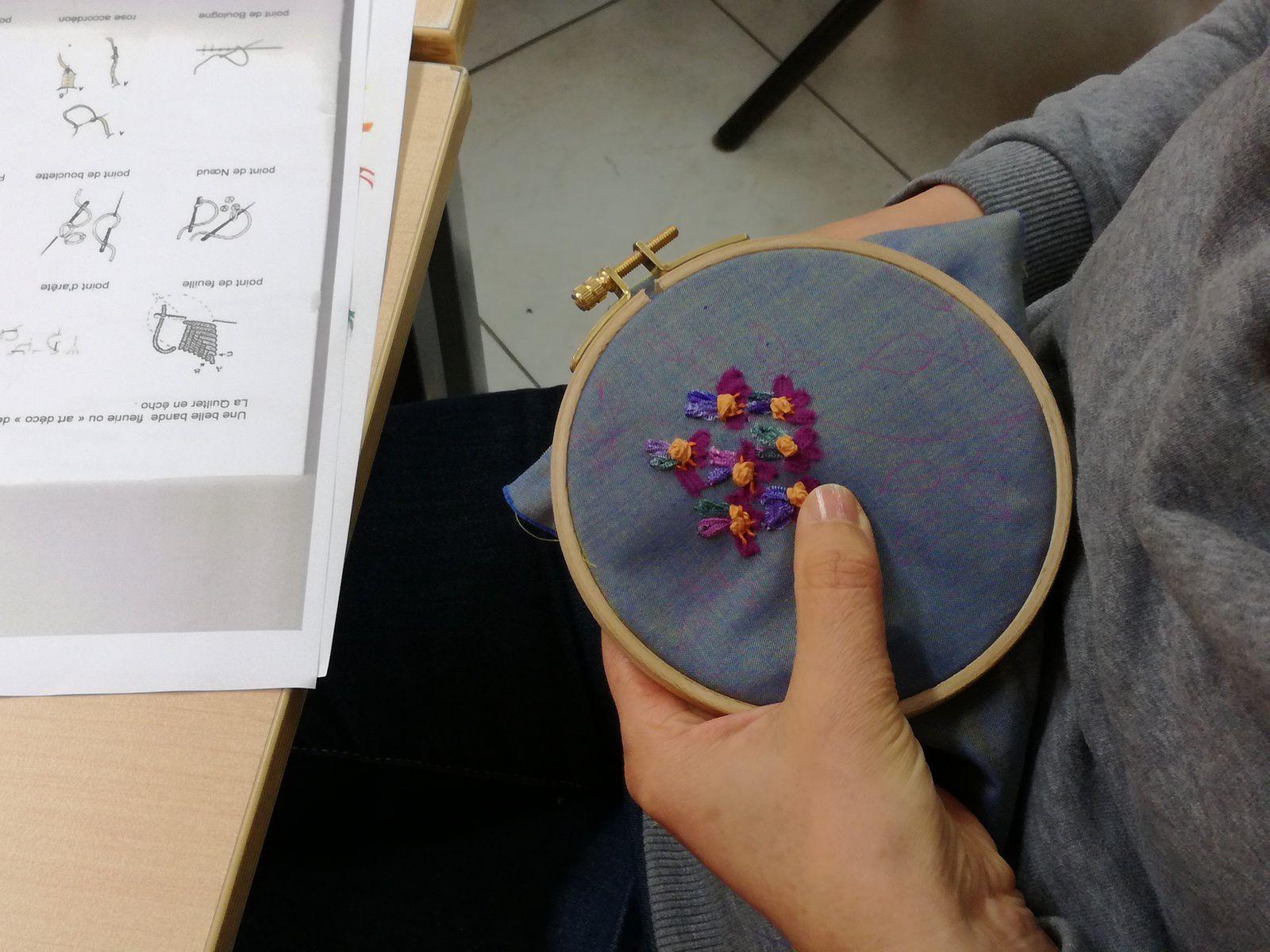Atelier Pochettes Fleuries / Broderie façon &quot&#x3B;Cécile Facilé&quot&#x3B; vendredi 4 mars