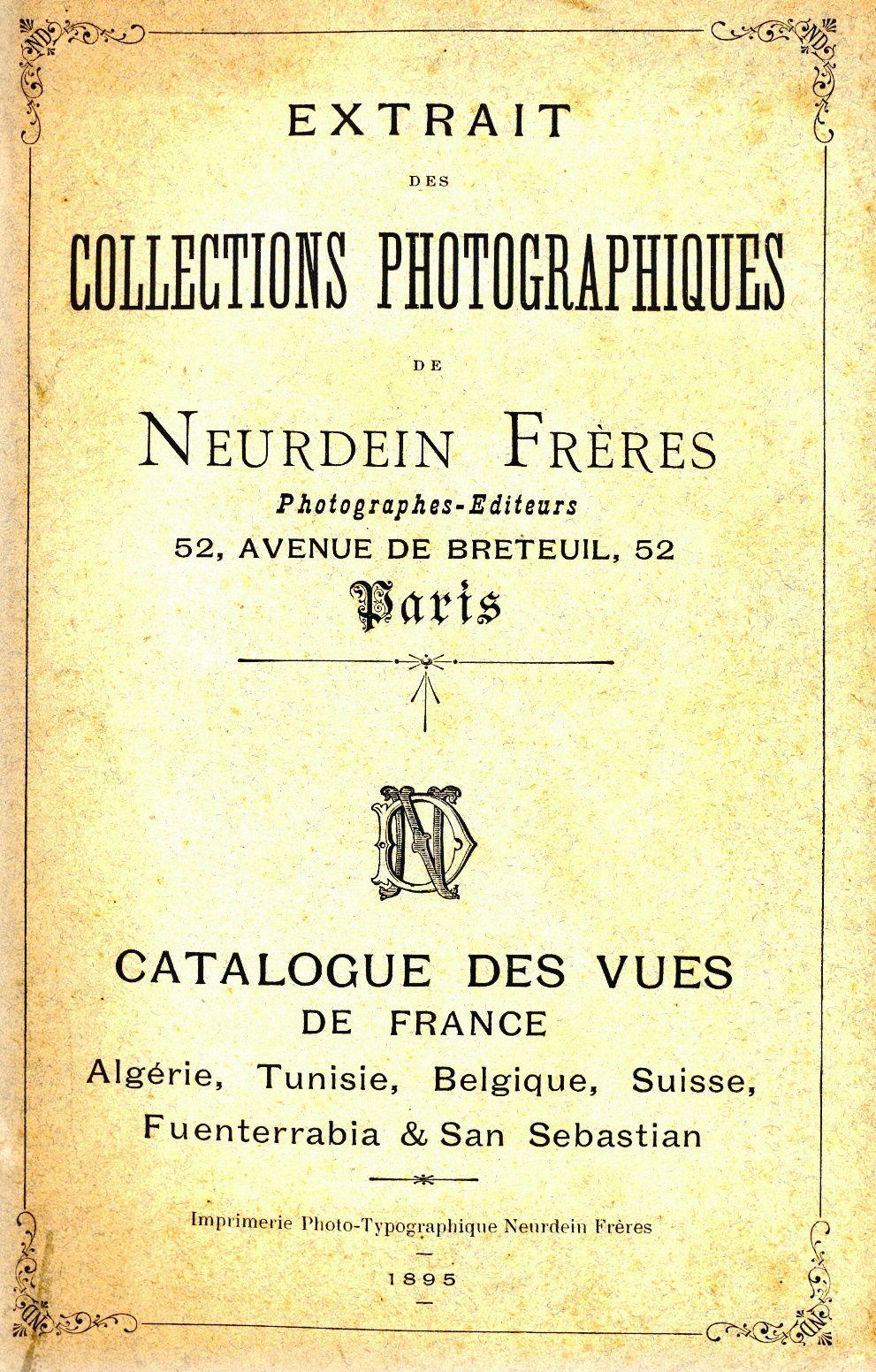 Le catalogue de 1895