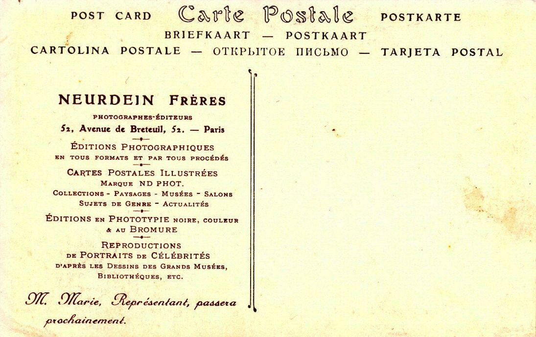 Les cartes de visite des commerciaux de la Maison Neurdein après 1904