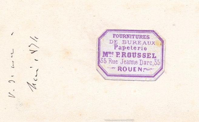 Des CDV datées (inscription manuscrite : 1874)