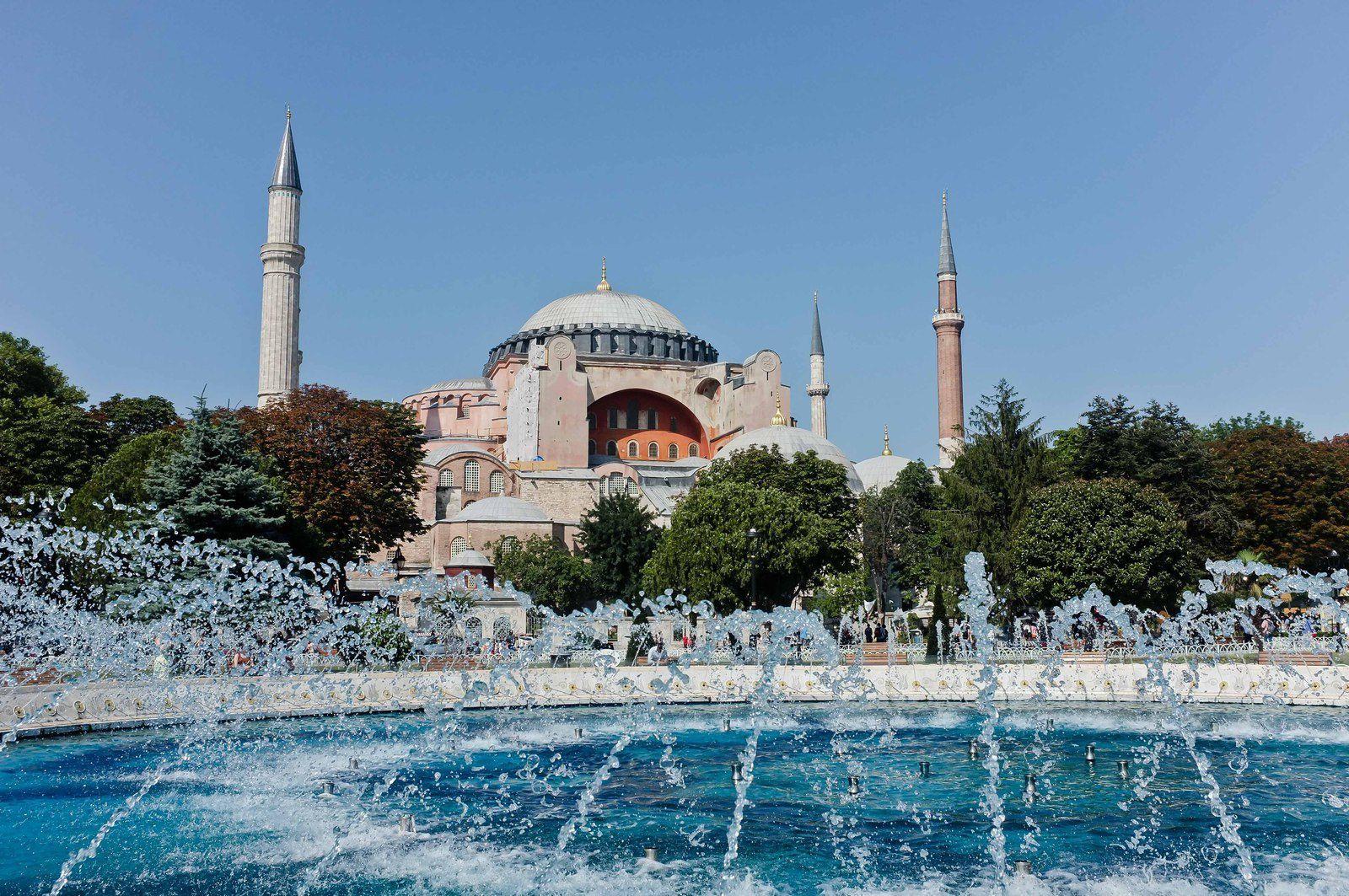 La grande mosquée bleue et la basilique Sainte Sophie