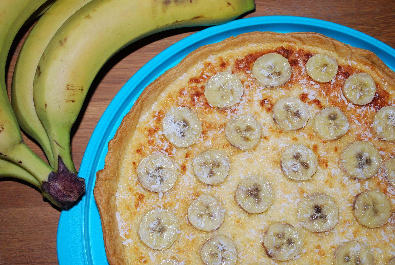 Tarte banane/noix de coco